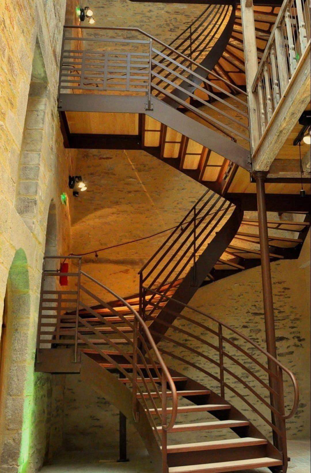 Escalier Malestroit - 2
