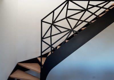 escalier avec marches bois