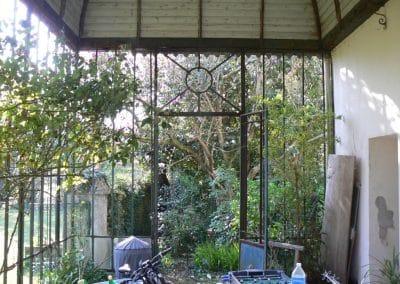 verrière avant restauration interieur
